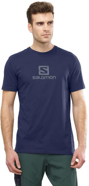 Salomon Coton Logo Kurzarm T Shirt Herren night sky